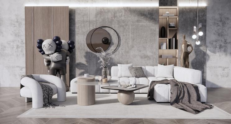 现代沙发茶几组合 转角沙发