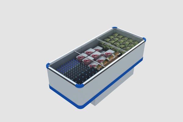 现代卧式冰箱冰柜