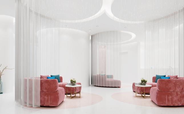 现代美容院 休息区