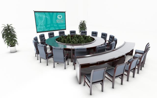 现代会议桌 圆形会议桌