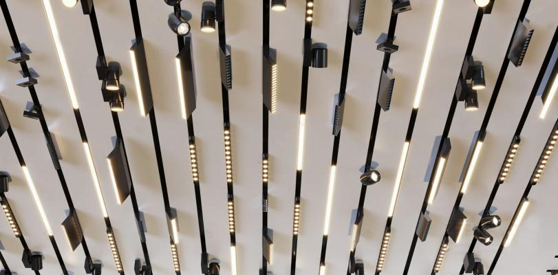 现代磁吸灯轨道灯组合