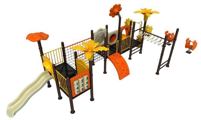 现代滑梯 儿童设施