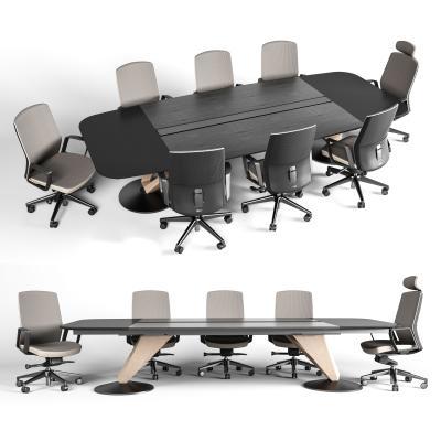 现代会议桌椅组合