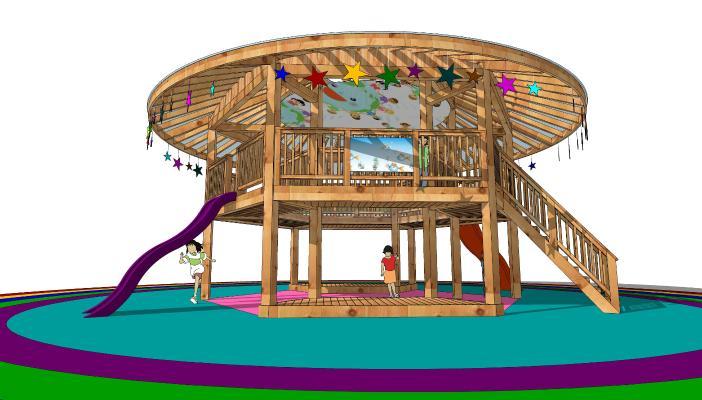 现代风格儿童滑梯 儿童游乐场
