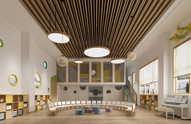 北欧幼儿园教室