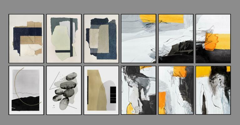 现代装饰挂画 抽象艺术画 风景画