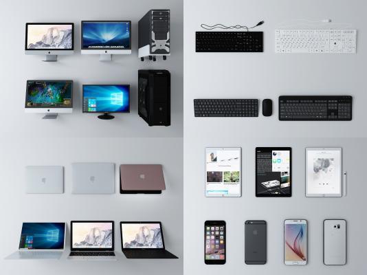 现代电脑 显示器 主机