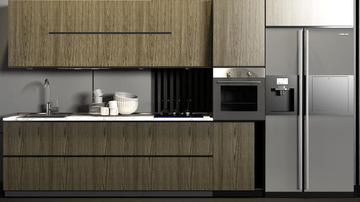 现代橱柜 厨具组合