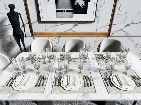 现代餐具组合