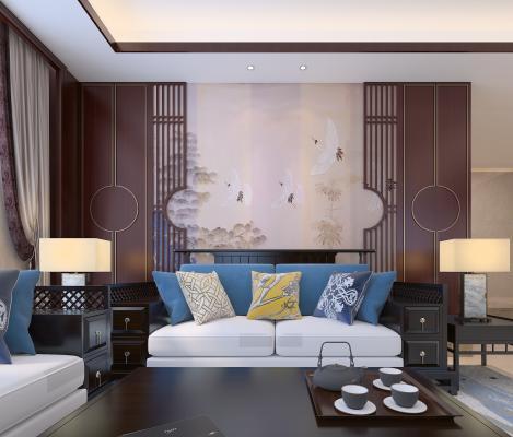 中式别墅客厅