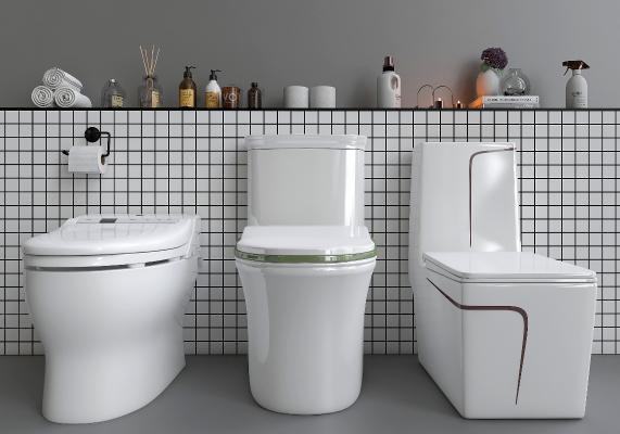 现代坐便器卫浴用品组合 马桶 洁具