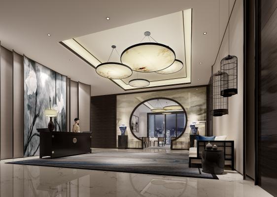 中式风格酒店大堂