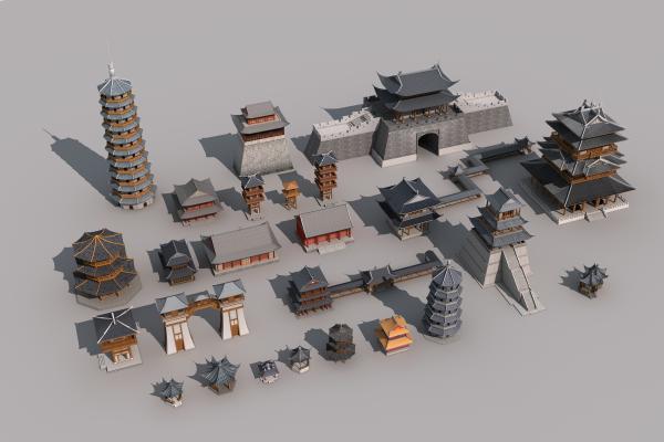 中式古建筑塔楼