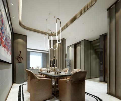 新中式客餐厅 客厅