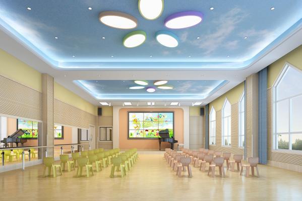 现代幼儿园 音体室 钢琴
