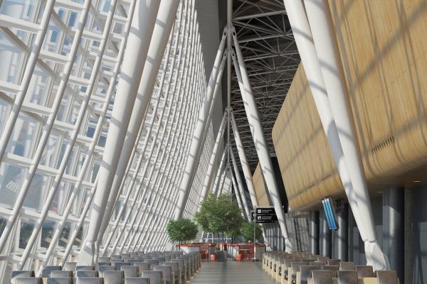 现代机场候机厅