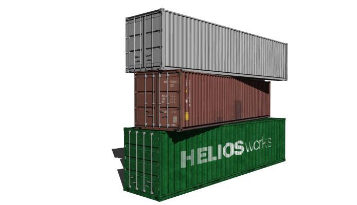 集装箱 码头 货车 运输 箱子 箱