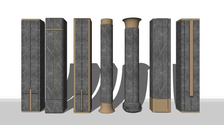 现代简约柱子组合