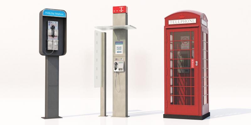 现代公用电话亭