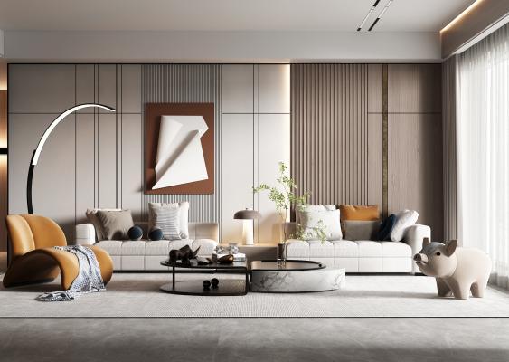 現代客廳 沙發茶幾
