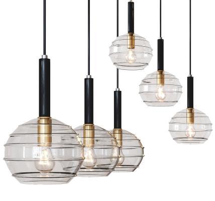 現代玻璃吊燈