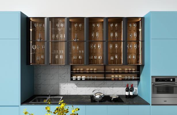 现代橱柜酒柜电器柜组合现代橱柜