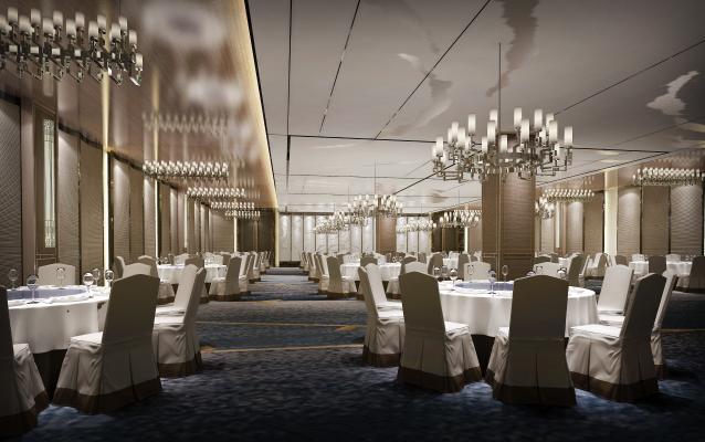 新中式奢华酒店宴会厅