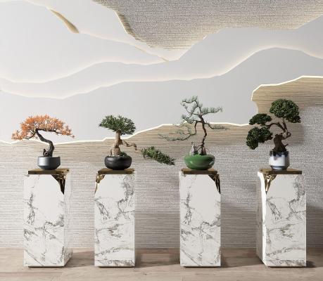 新中式盆景绿植组合