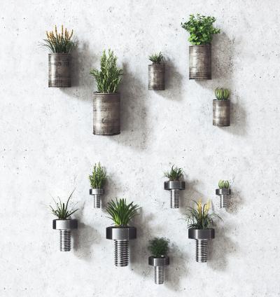 工业风植物盆栽