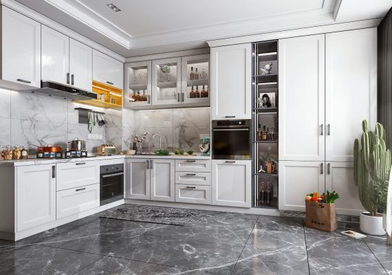 北欧风格厨房橱柜 厨房电器 厨房用品