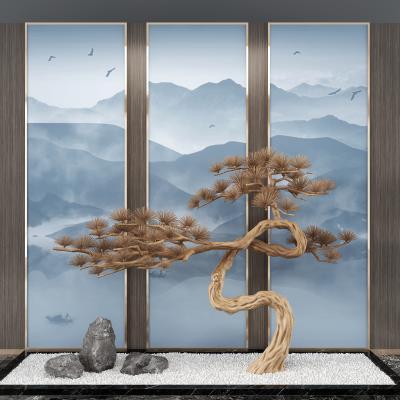 新中式景觀松樹,景觀小品