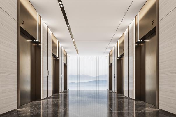 现代电梯 过道