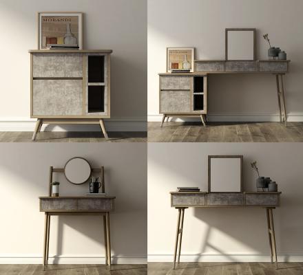 现代简约床头柜梳妆台组合