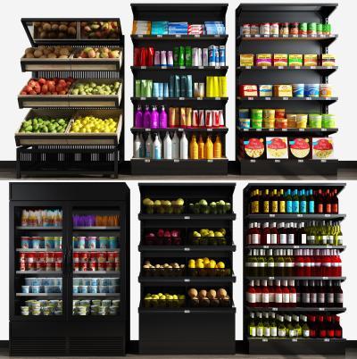 现代超市货架 展柜组合