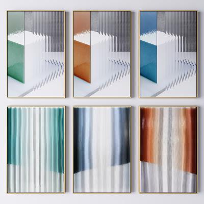 現代抽象藝術裝飾掛畫 抽象畫 幾何畫