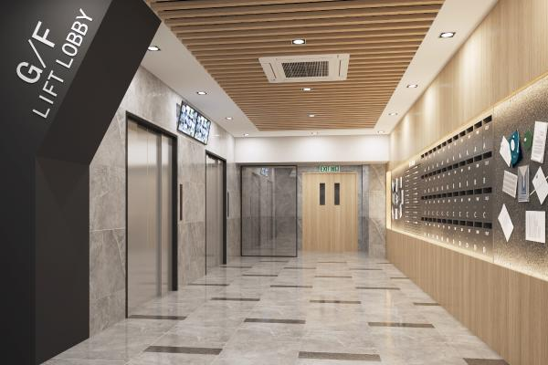 现代电梯厅 电梯