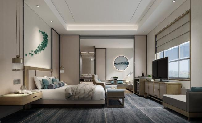 新中式客房酒店