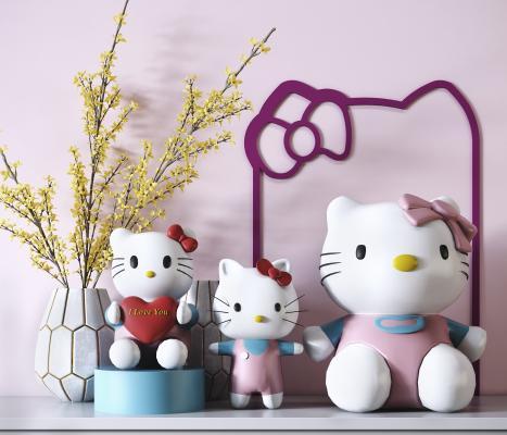 hellokitty装饰摆件 玩具猫 装饰摆件