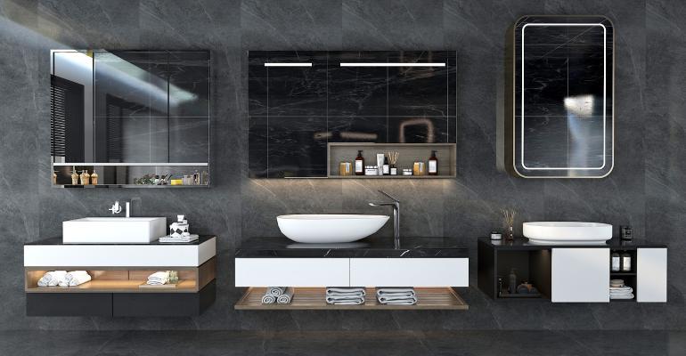 现代卫浴柜