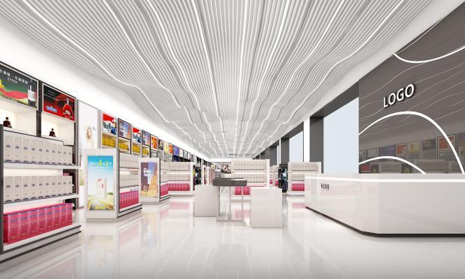 现代风格机场免税店