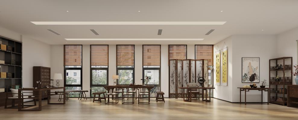 新中式展厅、休息区