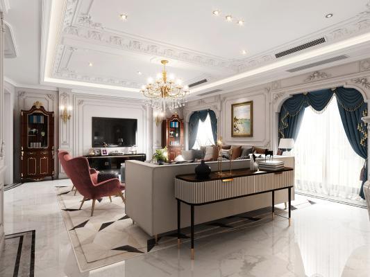 法式轻奢客厅