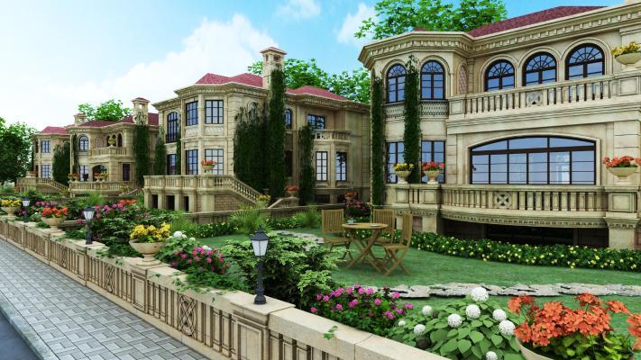 现代别墅外观