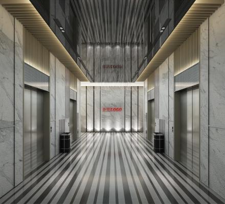 现代电梯间电梯厅