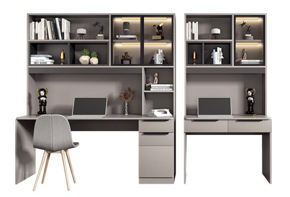 现代书桌椅 书柜