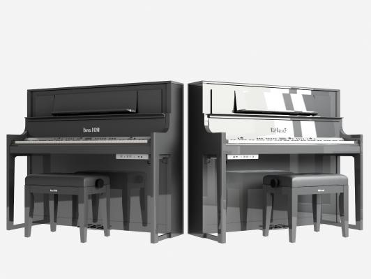 现代钢琴 乐器 钢琴凳