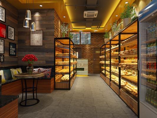 工業風面包店