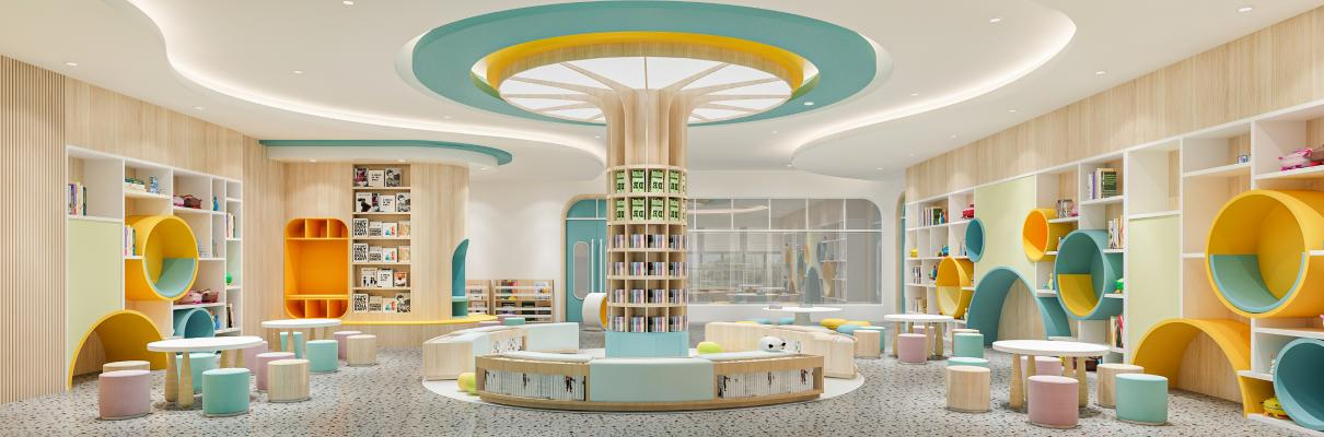 幼儿园阅读室 图书馆