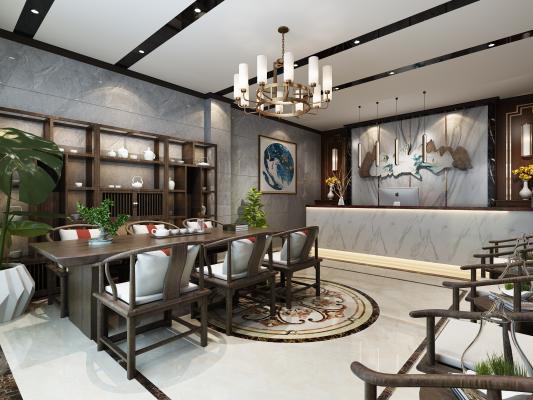 新中式茶楼大厅