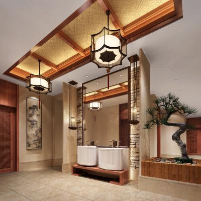 中式风格酒店卫生间